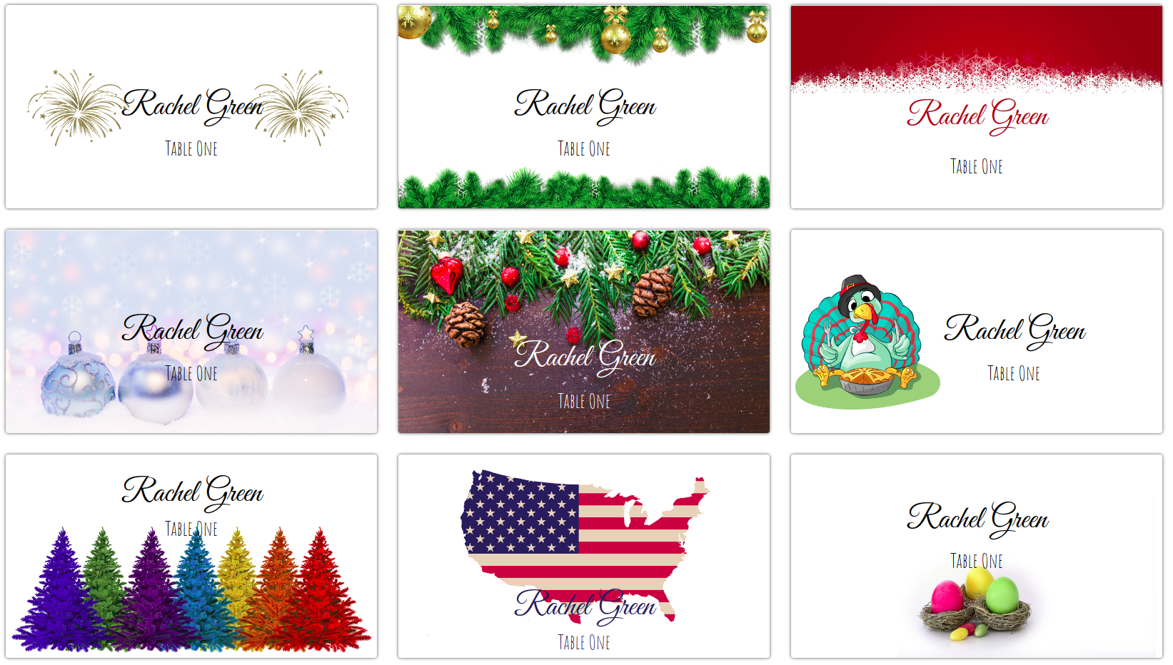 Making Your Own Holiday Place Cards At Home Card Me