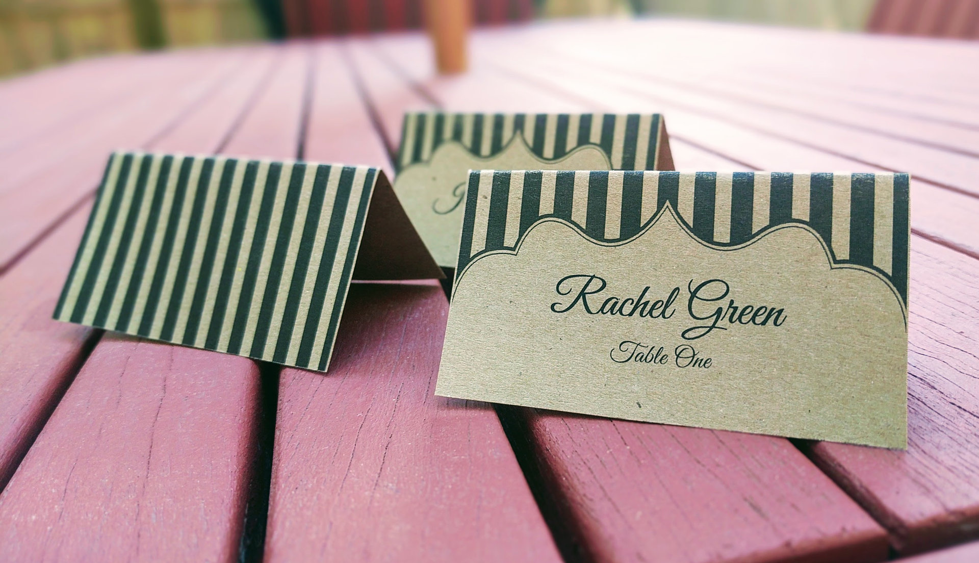 rustic cards - Printed Place Cards